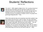 students reflections after the chat
