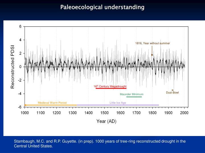 Paleoecological understanding