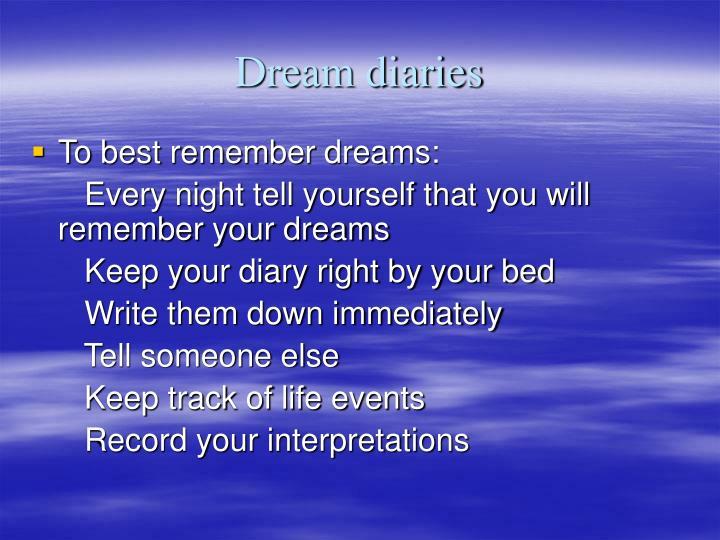 Dream diaries