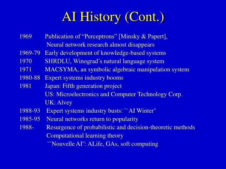 AI History (Cont.)