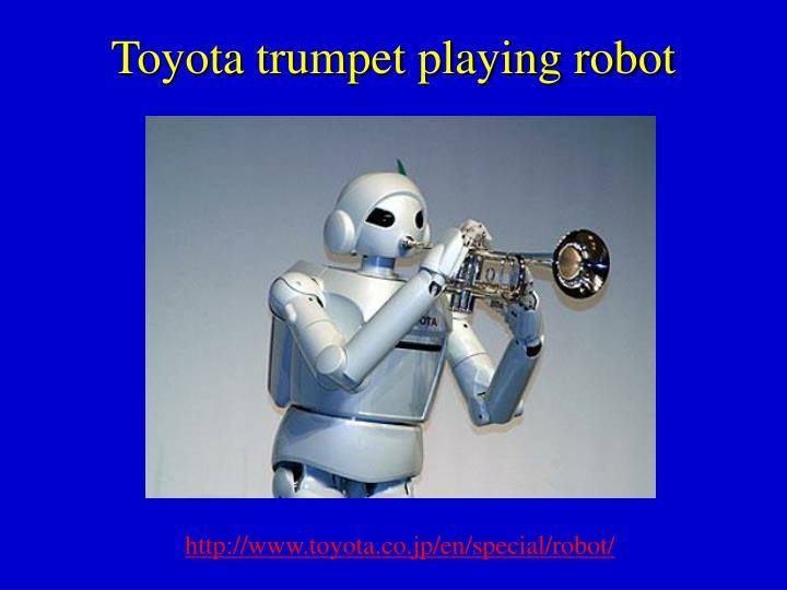 Toyota trumpet playing robot