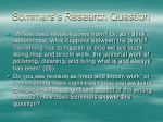 sommers s research question