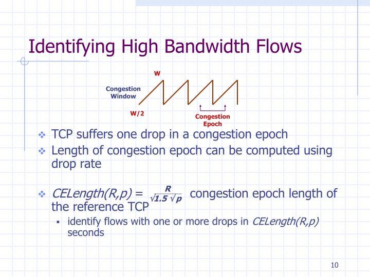 Identifying High Bandwidth Flows