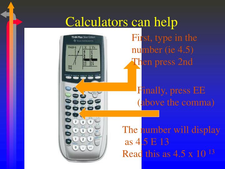 Calculators can help