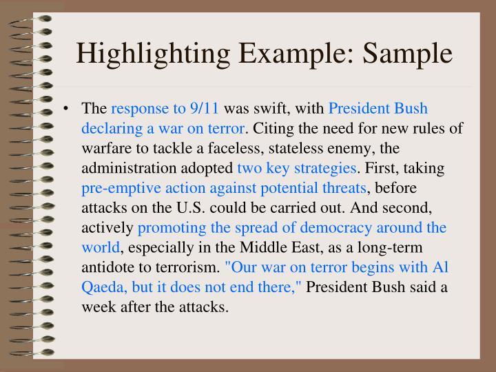 Highlighting Example: Sample