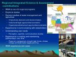 regional integrated science assessment contributions