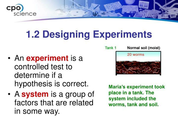 1.2 Designing Experiments