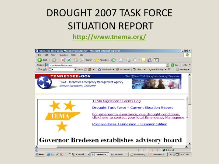 DROUGHT 2007 TASK FORCE