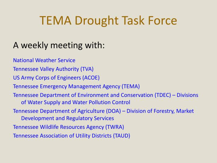 TEMA Drought Task Force