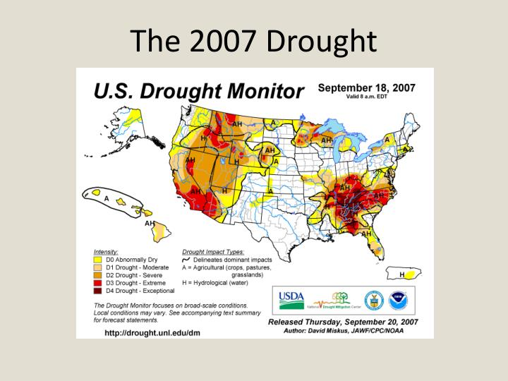 The 2007 drought