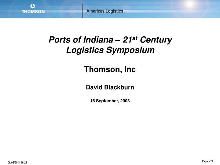 Ports of Indiana – 21