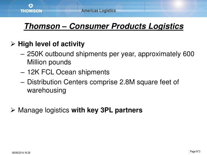 Thomson consumer products logistics1
