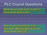 plc crucial questions1