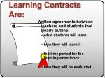 learning contracts are