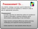preassessment is