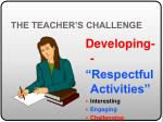 the teacher s challenge