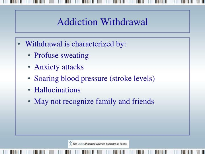 Addiction Withdrawal
