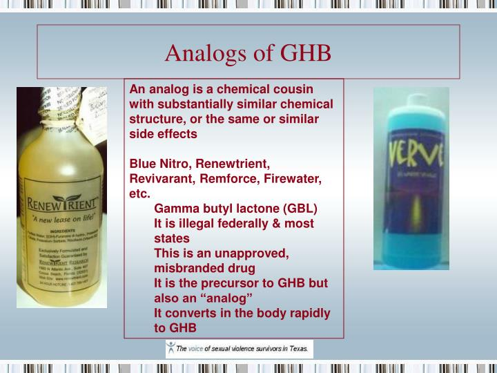 Analogs of GHB