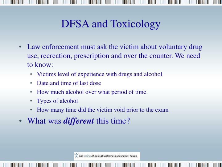 DFSA and Toxicology