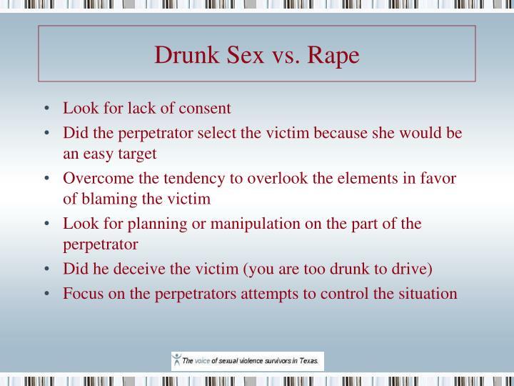 Drunk Sex vs. Rape