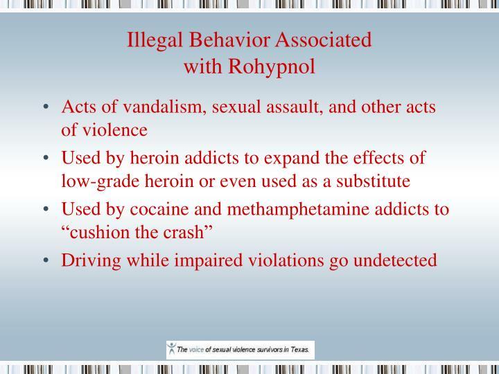 Illegal Behavior Associated