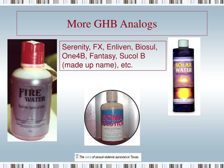 More GHB Analogs