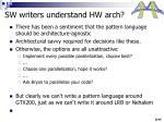 sw writers understand hw arch