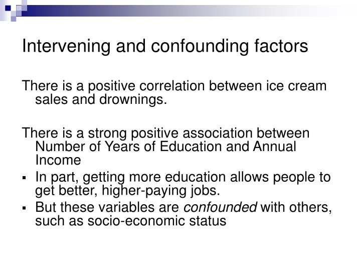 Intervening and confounding factors