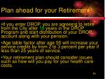 plan ahead for your retirement
