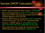 sample drop calculation 11