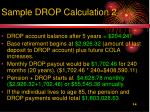 sample drop calculation 21