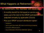 what happens at retirement