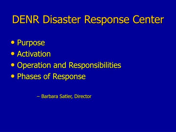 denr disaster response center n.
