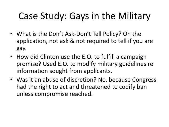 Case Study: Gays in the Military