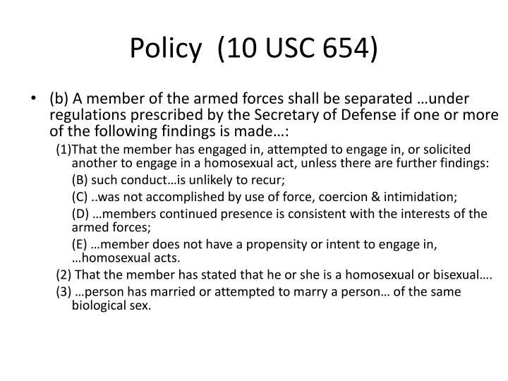Policy  (10 USC 654)
