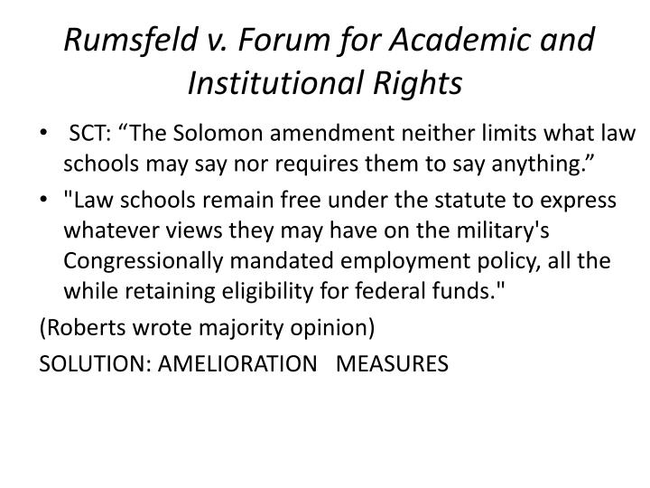 Rumsfeld v. Forum for Academic and Institutional Rights