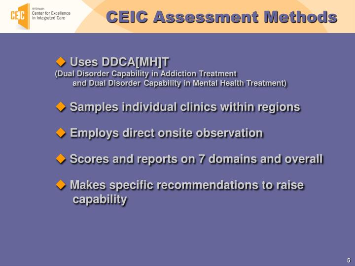 CEIC Assessment Methods