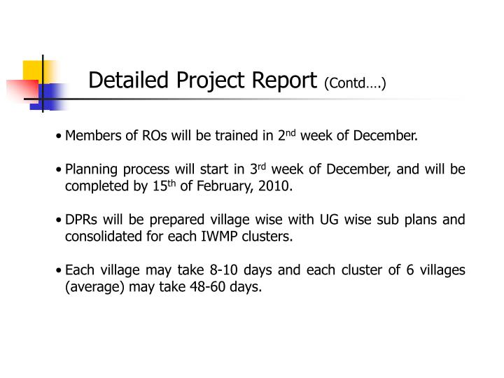 Detailed Project Report