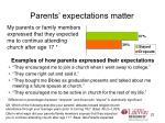 parents expectations matter