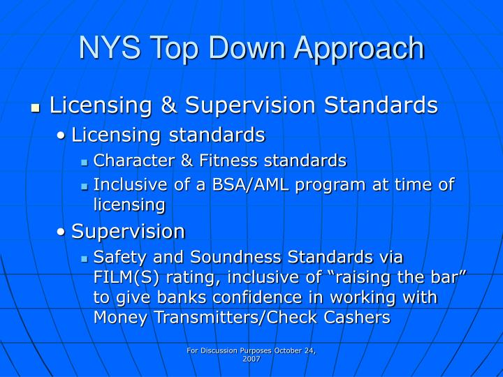 NYS Top Down Approach
