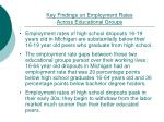key findings on employment rates across educational groups