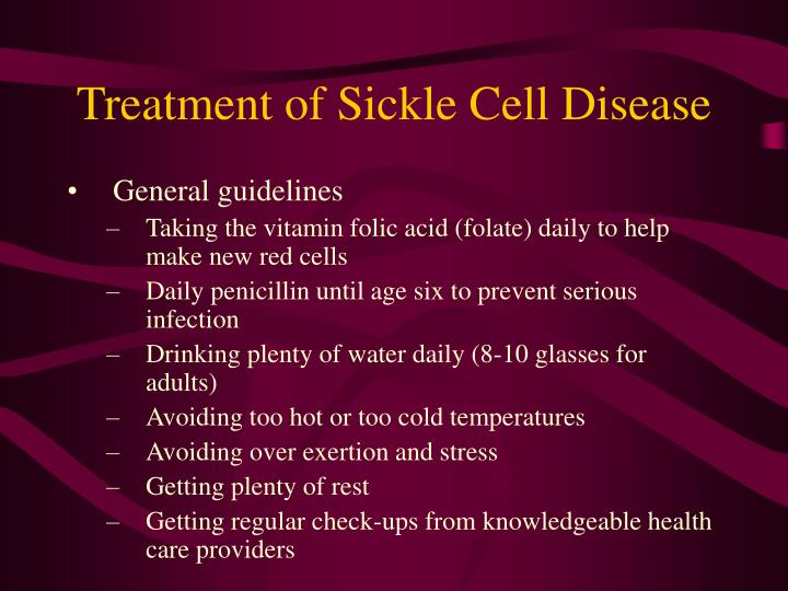 Treatment of Sickle Cell Disease