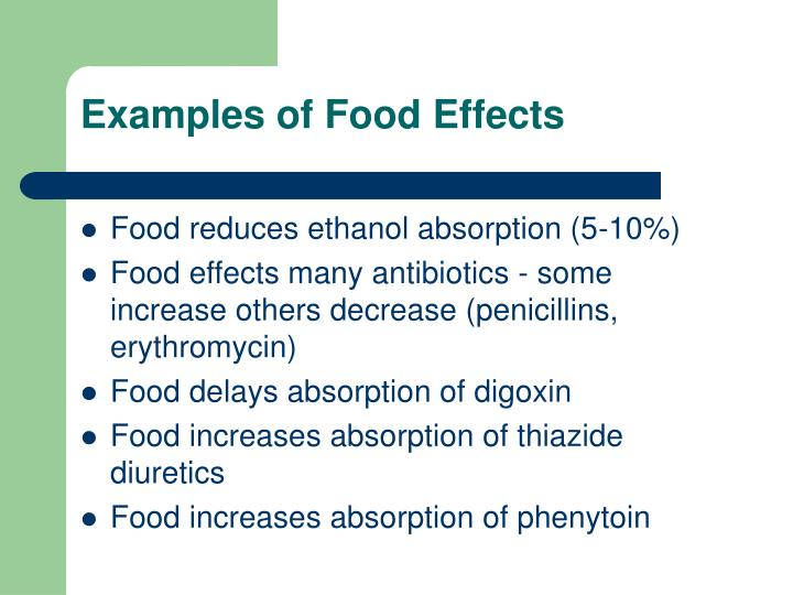 Examples of Food Effects