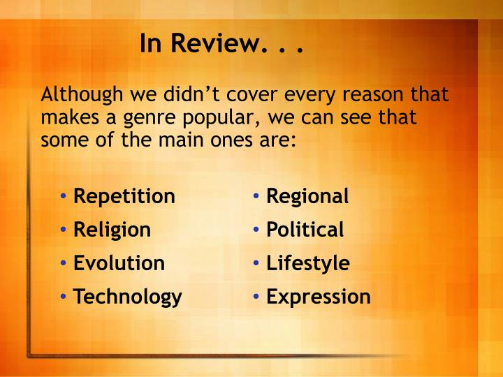 In Review. . .