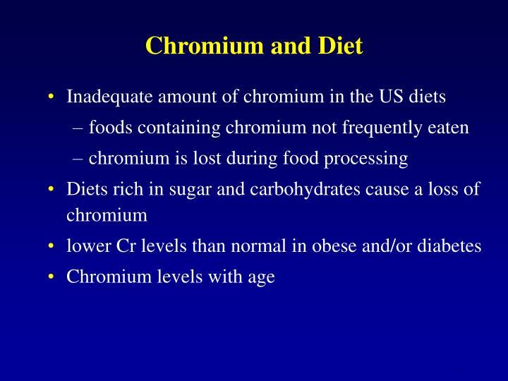 Chromium and Diet