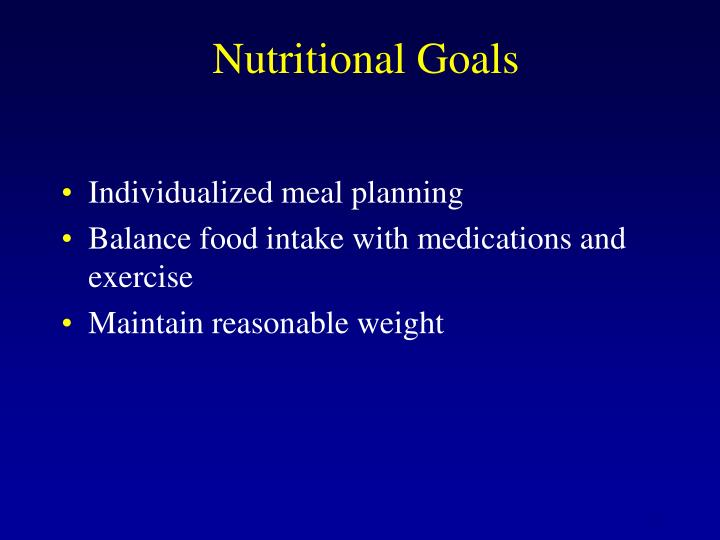 Nutritional Goals