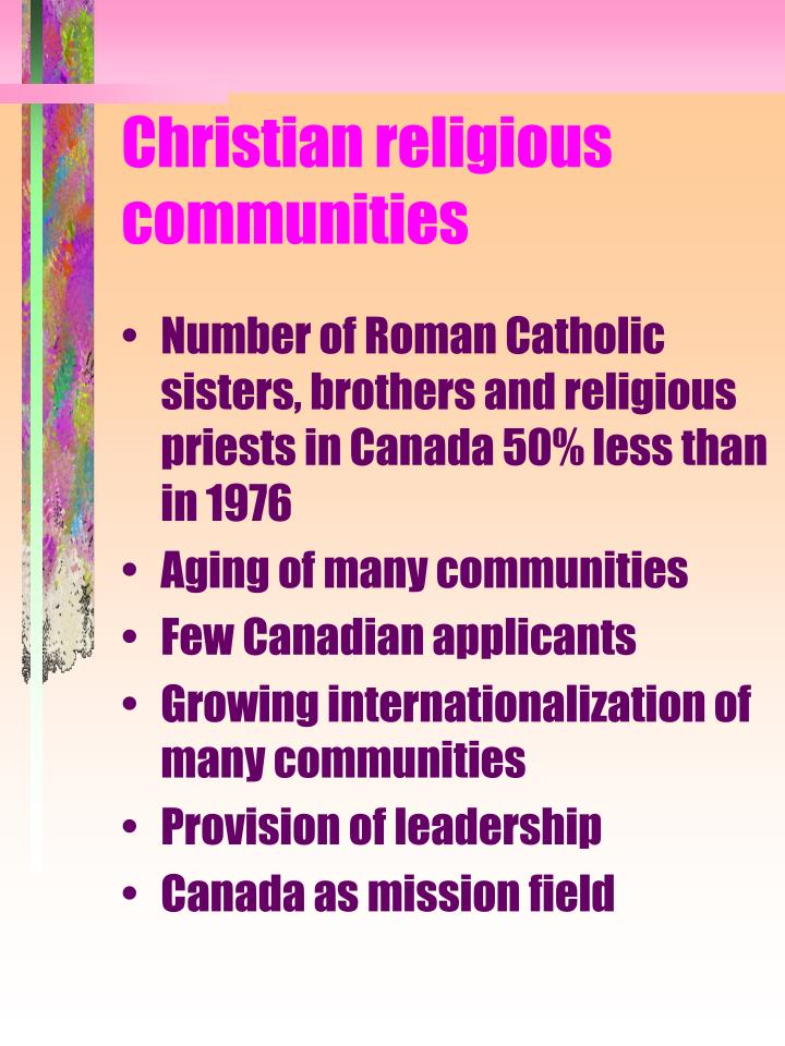 Christian religious communities