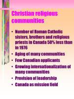 christian religious communities1