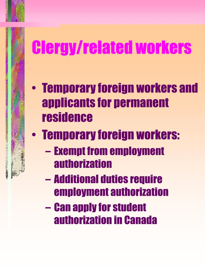 Clergy/related workers
