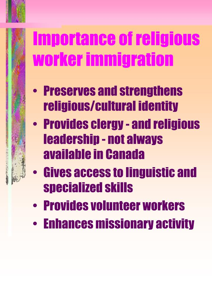 Importance of religious worker immigration